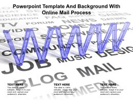 Powerpoint Template And Background With Online Mail Process