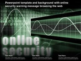 Powerpoint Template And Background With Online Security Warning Message Browsing The Web