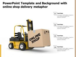 Powerpoint Template And Background With Online Shop Delivery Metaphor