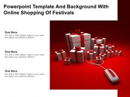 Powerpoint Template And Background With Online Shopping Of Festivals
