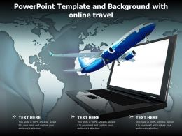 Powerpoint Template And Background With Online Travel
