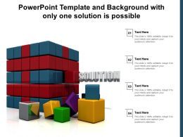 Powerpoint Template And Background With Only One Solution Is Possible