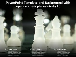 Powerpoint Template And Background With Opaque Chess Pieces Nicely Lit