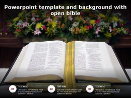 Powerpoint Template And Background With Open Bible