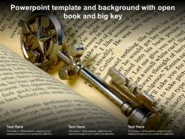 Powerpoint Template And Background With Open Book And Big Key