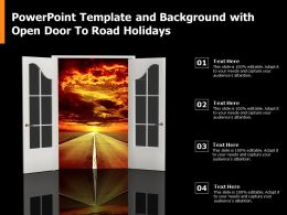 Powerpoint Template And Background With Open Door To Road Holidays