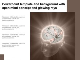 Powerpoint Template And Background With Open Mind Concept And Glowing Rays