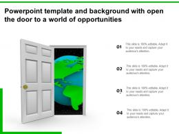 Powerpoint Template And Background With Open The Door To A World Of Opportunities