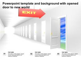 Powerpoint Template And Background With Opened Door To New World