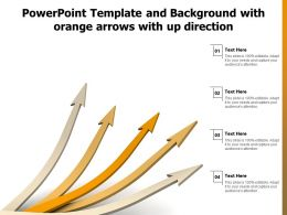Powerpoint Template And Background With Orange Arrows With Up Direction