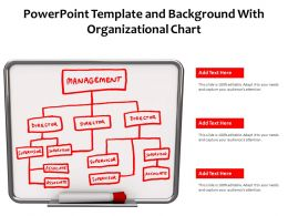 Powerpoint Template And Background With Organizational Chart