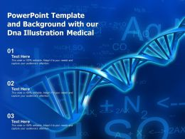 Powerpoint Template And Background With Our DNA Illustration Medical