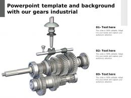 Powerpoint Template And Background With Our Gears Industrial