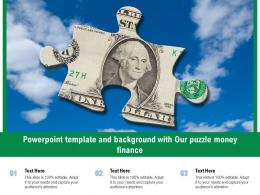 Powerpoint Template And Background With Our Puzzle Money Finance