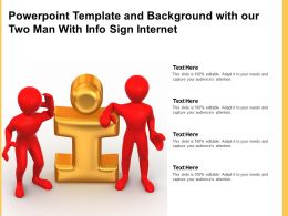 Powerpoint Template And Background With Our Two Man With Info Sign Internet