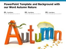 Powerpoint Template And Background With Our Word Autumn Nature
