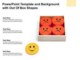 Powerpoint Template And Background With Out Of Box Shapes