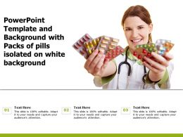 Powerpoint Template And Background With Packs Of Pills Isolated On White Background