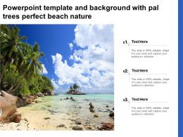 Powerpoint Template And Background With Pal Trees Perfect Beach Nature