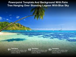 Powerpoint Template And Background With Palm Tree Hanging Over Stunning Lagoon With Blue Sky