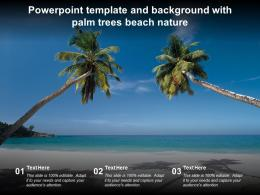 Powerpoint Template And Background With Palm Trees Beach Nature
