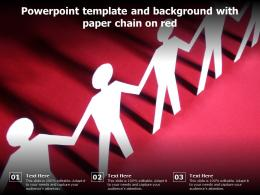 Powerpoint Template And Background With Paper Chain On Red