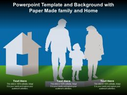 Powerpoint Template And Background With Paper Made Family And Home