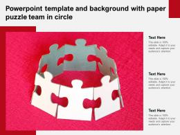 Powerpoint Template And Background With Paper Puzzle Team In Circle