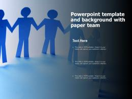 Powerpoint Template And Background With Paper Team