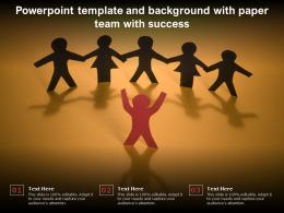 Powerpoint Template And Background With Paper Team With Success