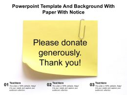 Powerpoint Template And Background With Paper With Notice