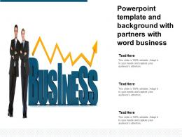 Powerpoint Template And Background With Partners With Word Business