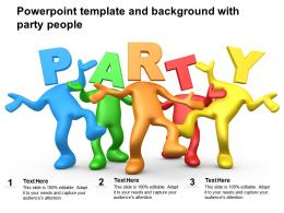 Powerpoint Template And Background With Party People