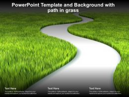 Powerpoint Template And Background With Path In Grass