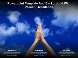 Powerpoint Template And Background With Peaceful Meditation