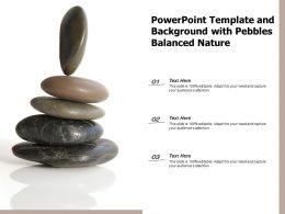 Powerpoint Template And Background With Pebbles Balanced Nature