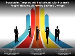 Powerpoint Template And Background With People And Success Business Concept