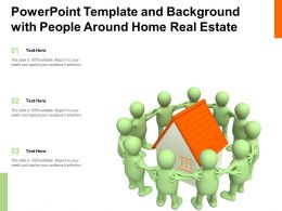 Powerpoint Template And Background With People Around Home Real Estate