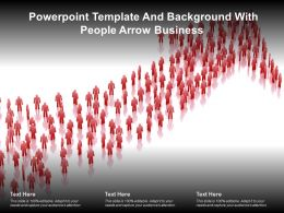 Powerpoint Template And Background With People Arrow Business