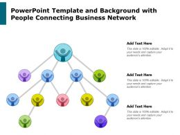 Powerpoint Template And Background With People Connecting Business Network