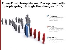 Powerpoint Template And Background With People Going Through The Changes Of Life