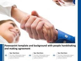 Powerpoint Template And Background With People Handshaking And Making Agreement