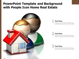 Powerpoint Template And Background With People Icon Home Real Estate