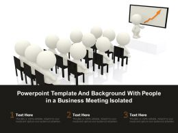 Powerpoint Template And Background With People In A Business Meeting Isolated
