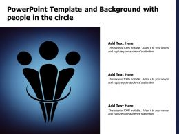 Powerpoint Template And Background With People In The Circle