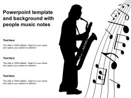 Powerpoint Template And Background With People Music Notes