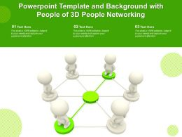 Powerpoint Template And Background With People Of 3D People Networking