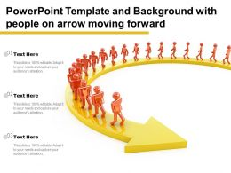 Powerpoint Template And Background With People On Arrow Moving Forward