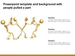 Powerpoint Template And Background With People Pulled A Part