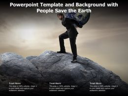Powerpoint Template And Background With People Save The Earth